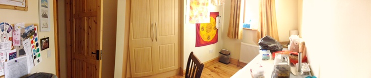 Panoramic view of newly re-vamped at-home studio in Kenmare, Co. Kerry, Ireland.