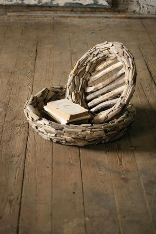 Kalalou Large Driftwood Bowls - Set Of 2 - Hand crafted in the Philippines of repurposed driftwood, this set of two bowls will warm any room of your home whether they're holding books on the coffee table or fresh fruit in the kitchen.