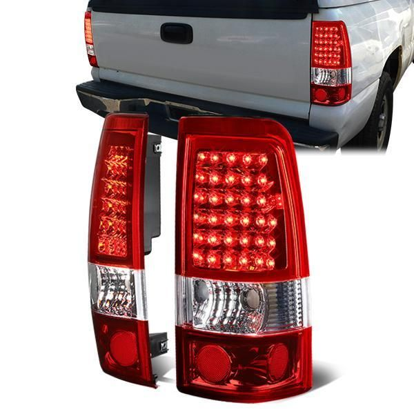 99 03 Chevy Silverado Gmc Sierra 1500 2500 3500 Led Tail Lights Red Tail Light Gmc Sierra 1500 Led Tail Lights