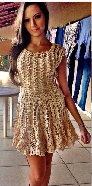 Dress in charts. Crochet handmade summer dress women ...