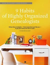 9 Habits of Highly Organized Genealogists