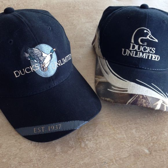 BUNDLE! 2 Brand-New Ducks Unlimited Hats Both hats are brand-new and have never been worn! Are in flawless condition! Willing to accept reasonable offers! ✨ BOTH hats included with purchase of this listing! Ducks Unlimited Accessories Hats