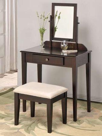 espresso vanity set with bench. Davina Espresso Makeup Vanity Table Set 44 best Sets images on Pinterest  Arredamento and
