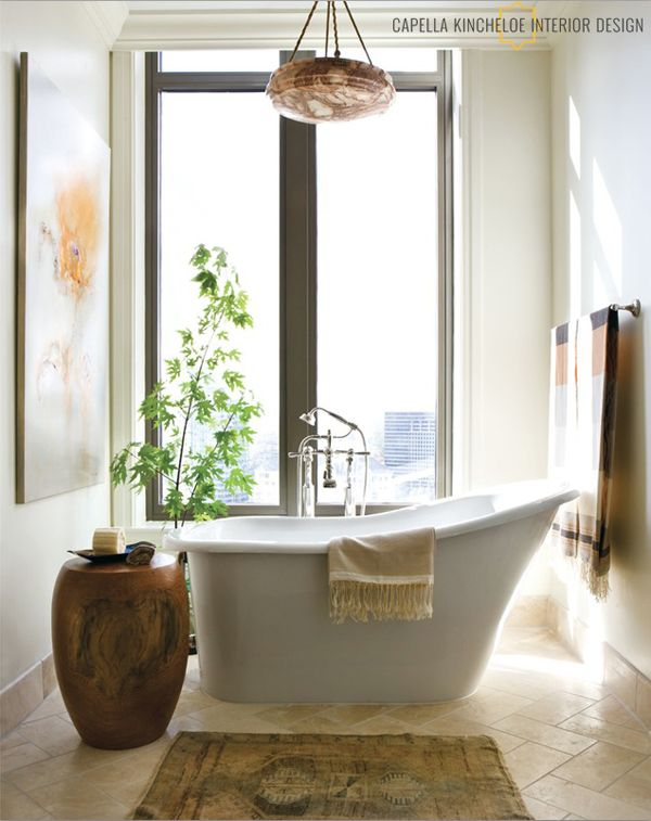 Images Photos GREAT TUB for a small space by Capella Kincheloe Beautiful BathroomsDream