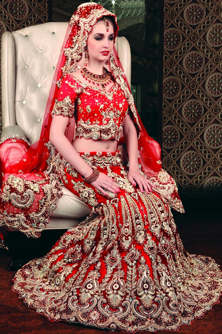 1000 images about indian attire on pinterest bridal for Punjabi wedding dresses online