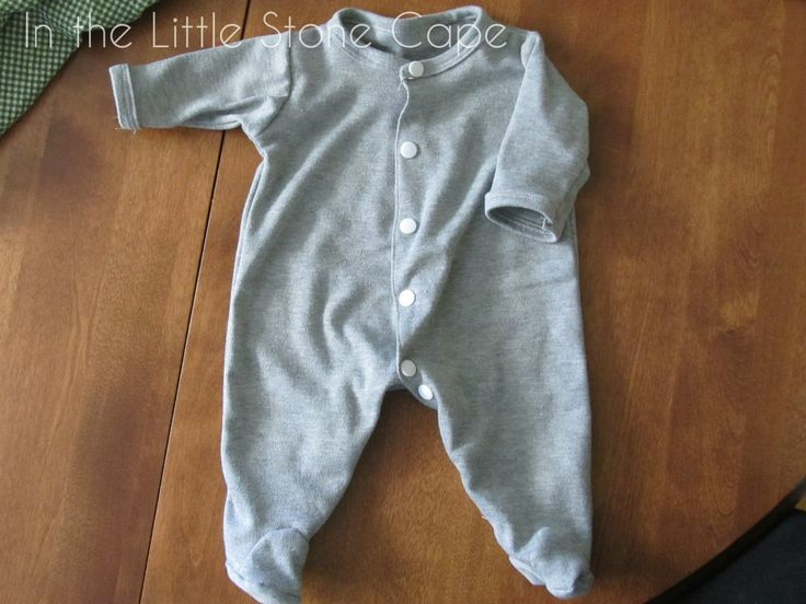 In the Little Stone Cape: Infant Footie Pajama Pattern