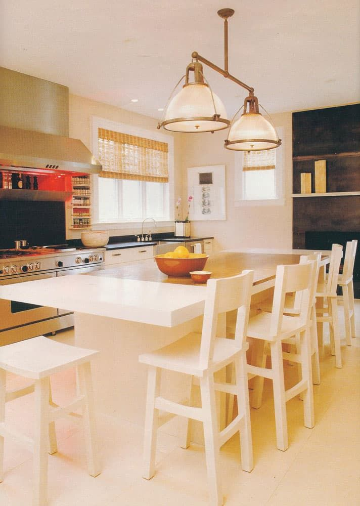 This Farmhouse Kitchen Offers The Best Of Both Worlds Elegant And Clic As Well Trendy Modern Soft White Island