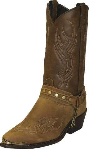 Sage Mens Dakota Leather 12in Studded