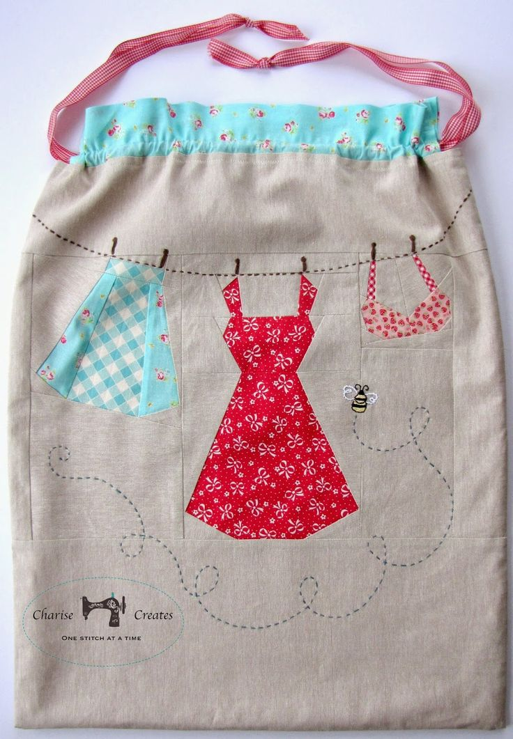 "Laundry Bag I designed for the book ""Mollie Makes Patchwork & Quilting ~ details on my blog Charise Creates"