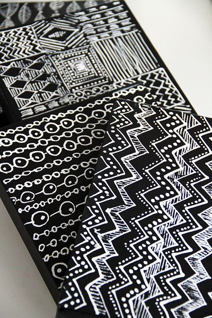 White corrections pen on black canvas