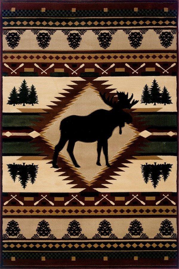 United Weavers Designer Contours John Q Moose Wilderness Rugs Direct