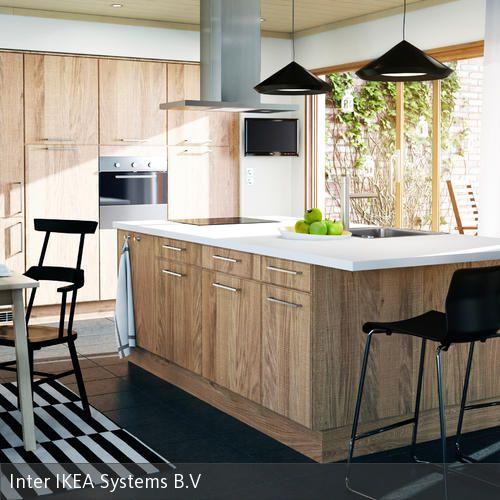 Marvelous K chenblock und Einbauschr nke aus Holz in moderner K che