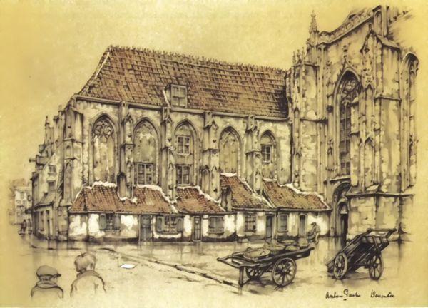 De Mariakerk in Deventer, Anton Pieck.