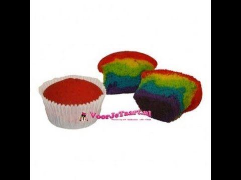 ▶ Regenboog cupcakes - YouTube
