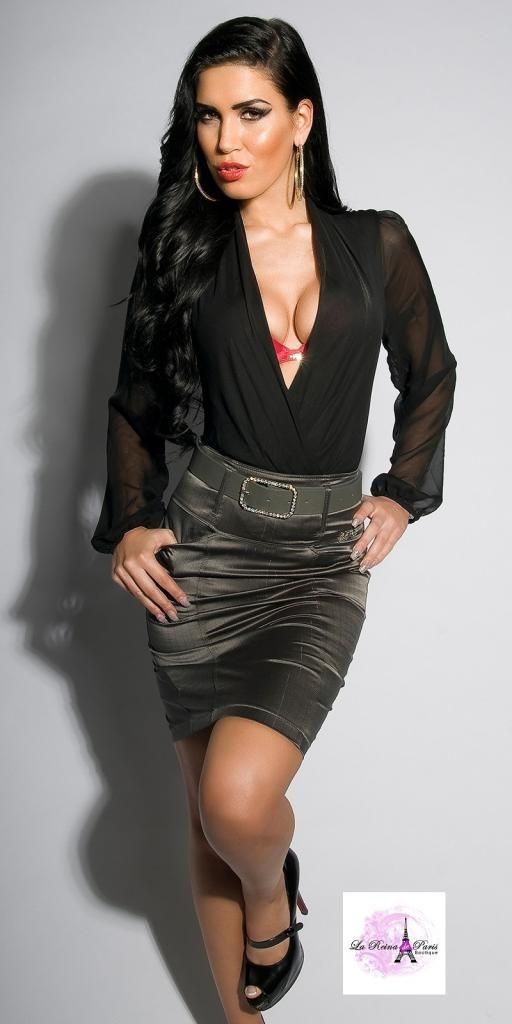 25 best faldas images on pinterest mini skirts zippers - Modelos de faldas de moda ...