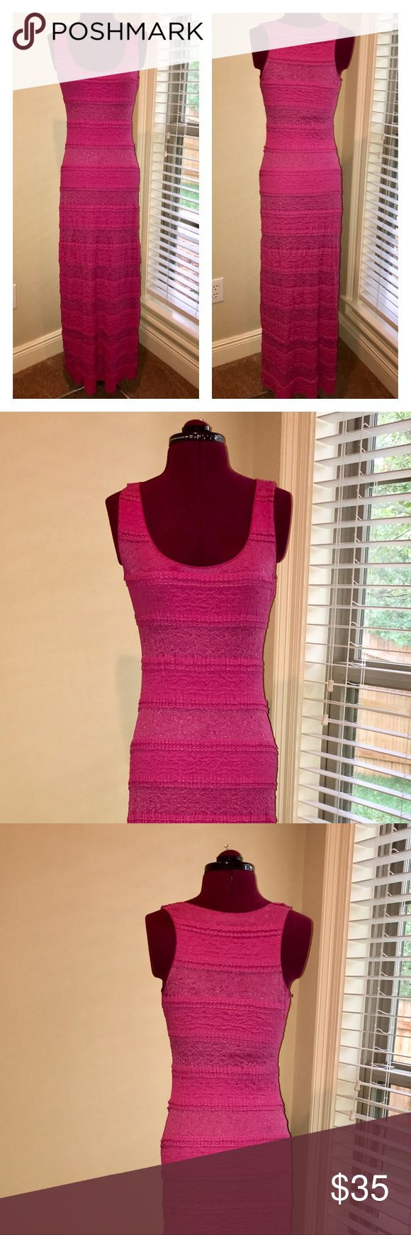 """🎉Host Pick🎉 C&V Maxi Dress-Make an Offer Size Small Chelsea & Violet Lace Maxi Dress.  In great pre-owned condition.  Tiered pink lace dress is fully lined.  Length from shoulder to hem line is 59"""". Chelsea & Violet Dresses Maxi"""
