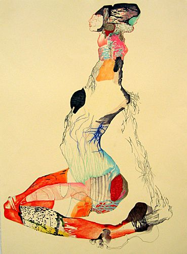 """Anne Austin Pearce  Legs Together  22"""" x 30"""" ink and pencil on paper  2006"""