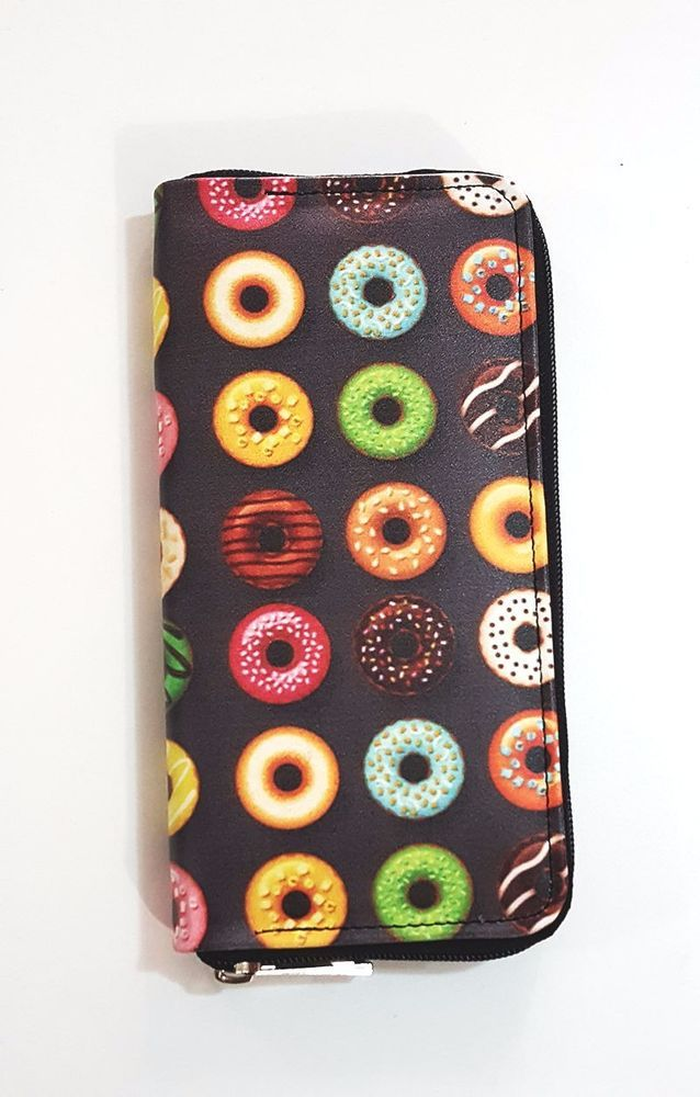 Donut Wallet Zippered Pouch, Pleather Vegan Wallet, Birthday Gift, Gift for her  #Unbranded #Envelope