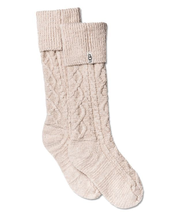 For extra comfort on a rainy day, Ugg's nubby-knit socks are a cozy complement to the Sienna rain boots. | Acrylic/nylon/wool/spandex | Imported | Ribbed cuff; designed for the Sienna rain boot | Fol