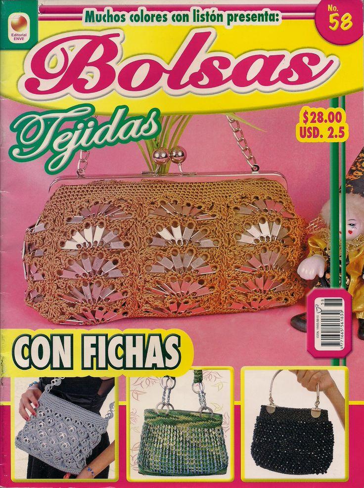 Mis Labores En Crochet Revista De Bolsas Tejidas Con