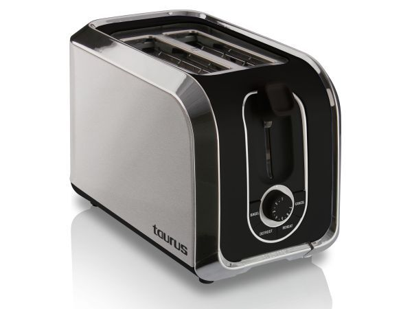 Taurus Estilo Stainless Steel 2 Slice Toaster - For a variety of small appliances, Taurus has you covered. Their quality range offers classic designs with close attention to detail and practical functionality. This stainless steel 2 slice toaster is sleek and neat, the perfect addition to any kitchen countertop.