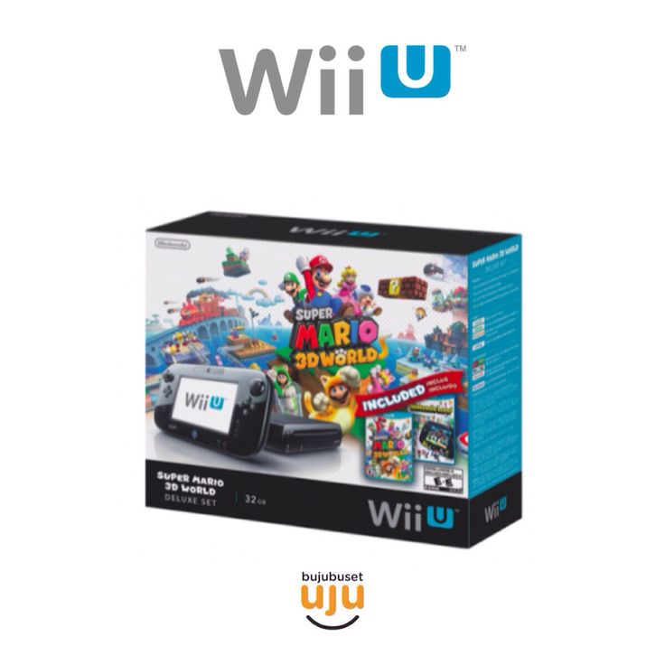 Wii U Deluxe Set Super Mario 3D World and Nintendo Land Bundle (Pre Installed)  USA/English  IDR 4.600.000
