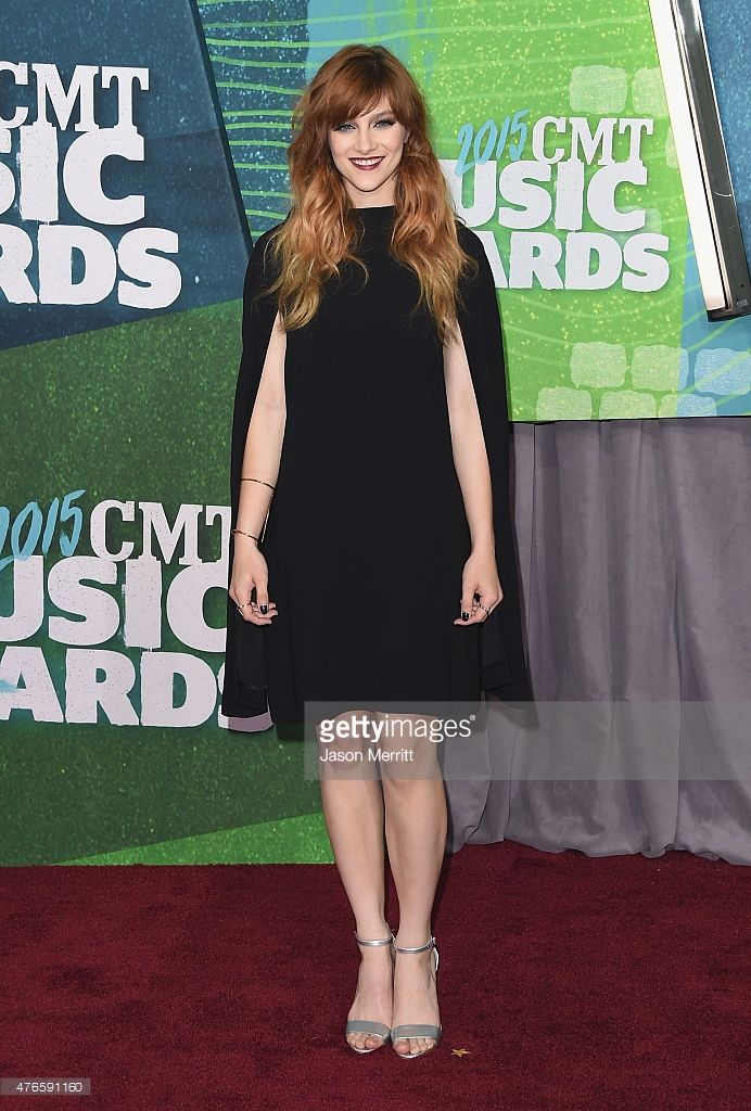 Actress Aubrey Peeples attends the 2015 CMT Music awards at the Bridgestone Arena on June 10, 2015 in Nashville, Tennessee.  (Photo by Jason Merritt/Getty Images)