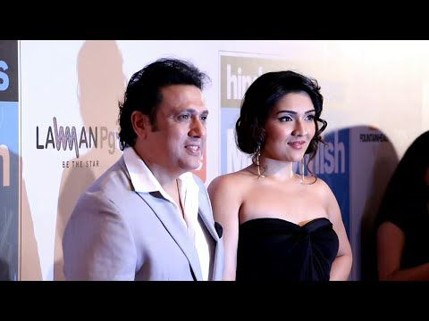 Govinda with daughter at HT Most Stylish Awards 2016 red carpet.