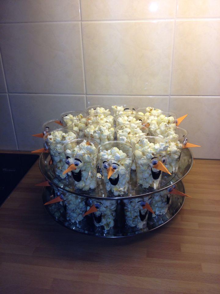Olaf frozen popcorn