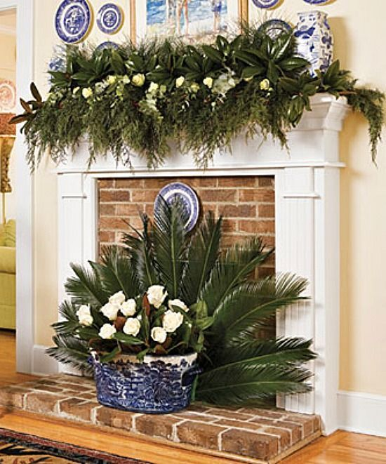 Fresh palm fireplace fan