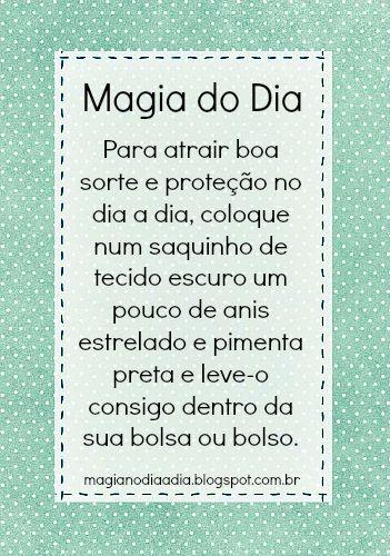 Magia no Dia a Dia: Magia do Dia: sorte e proteção http://magianodiaadia.blogspot.com.br/