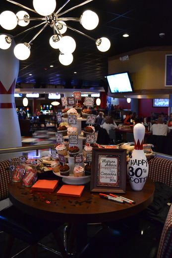 Adult 30th Birthday Bowling themed party