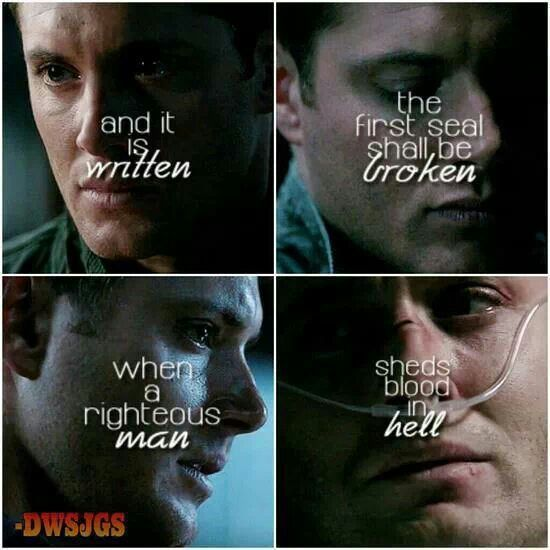 Supernatural. Quote is from 4:16 'On the Head of a Pin'