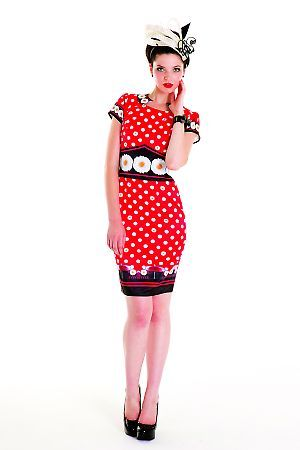 Daisy polka dot dress -Mackenzie Mode
