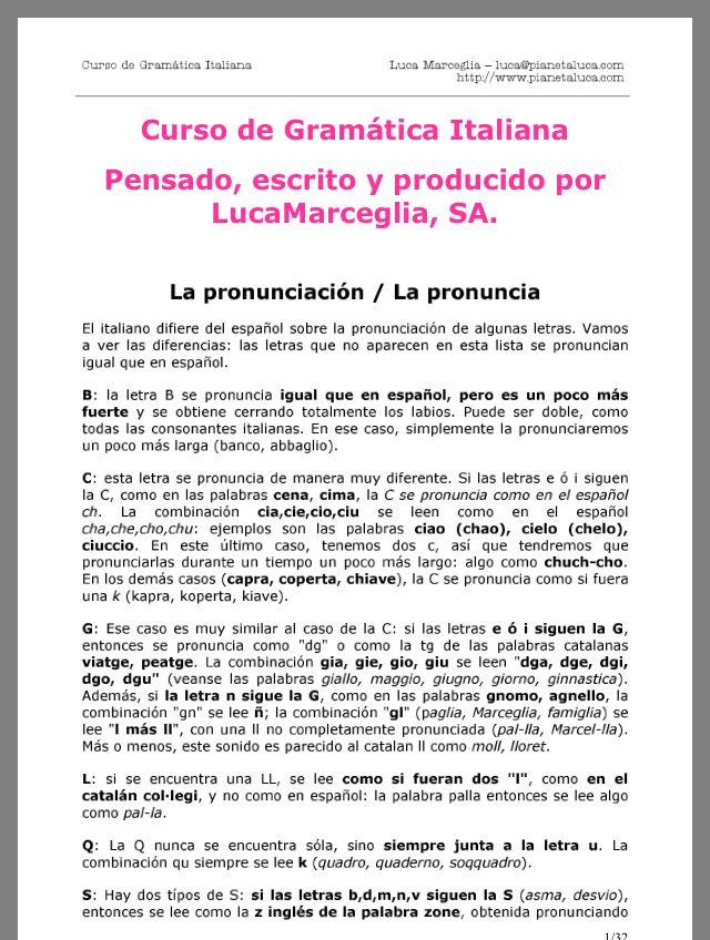 Pin De Mariana Corderita En Italiano Gramatica Italiana Escrito Pronunciacion