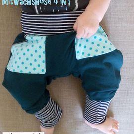 Freebook Mitwachsshorts 4 in 1 - Hose/Pumphose mit Taschen für Babys/Kinder 56-92 nähen