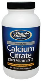 Calcium Citrate + Vitamin D - Buy Calcium Citrate + Vitamin D 240 Tablets at the Vitamin Shoppe
