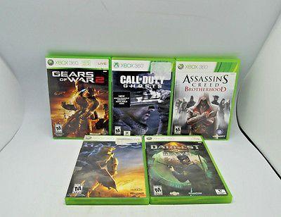 Xbox 360- CoD Ghosts Gears of War 2 Darkest of Days Halo 3 Assassins Creed