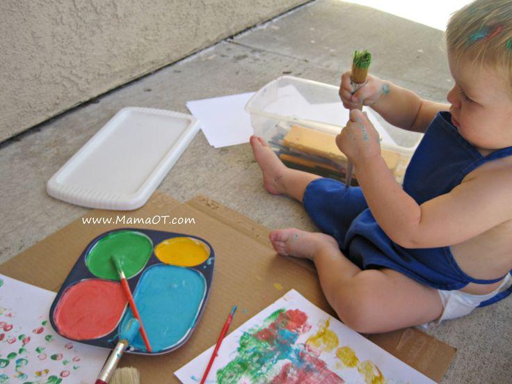 Homemade Edible Finger Paint (No Cornstarch Needed) -Mama OT*****use natural food colors***