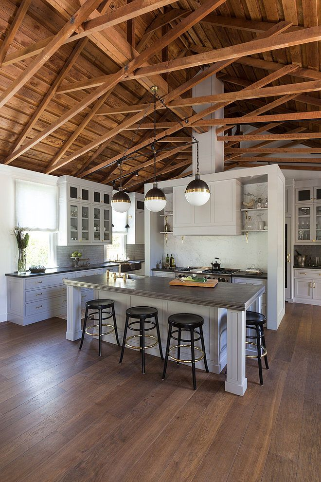 10 best ideas about exposed rafters on pinterest exposed for Kitchen setups interior