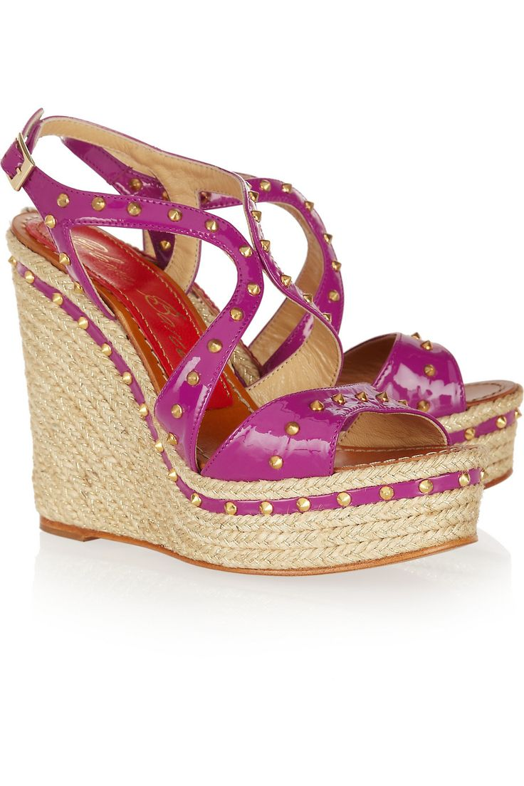 Mallorca studded patent-leather espadrille sandals by Paloma Barceló