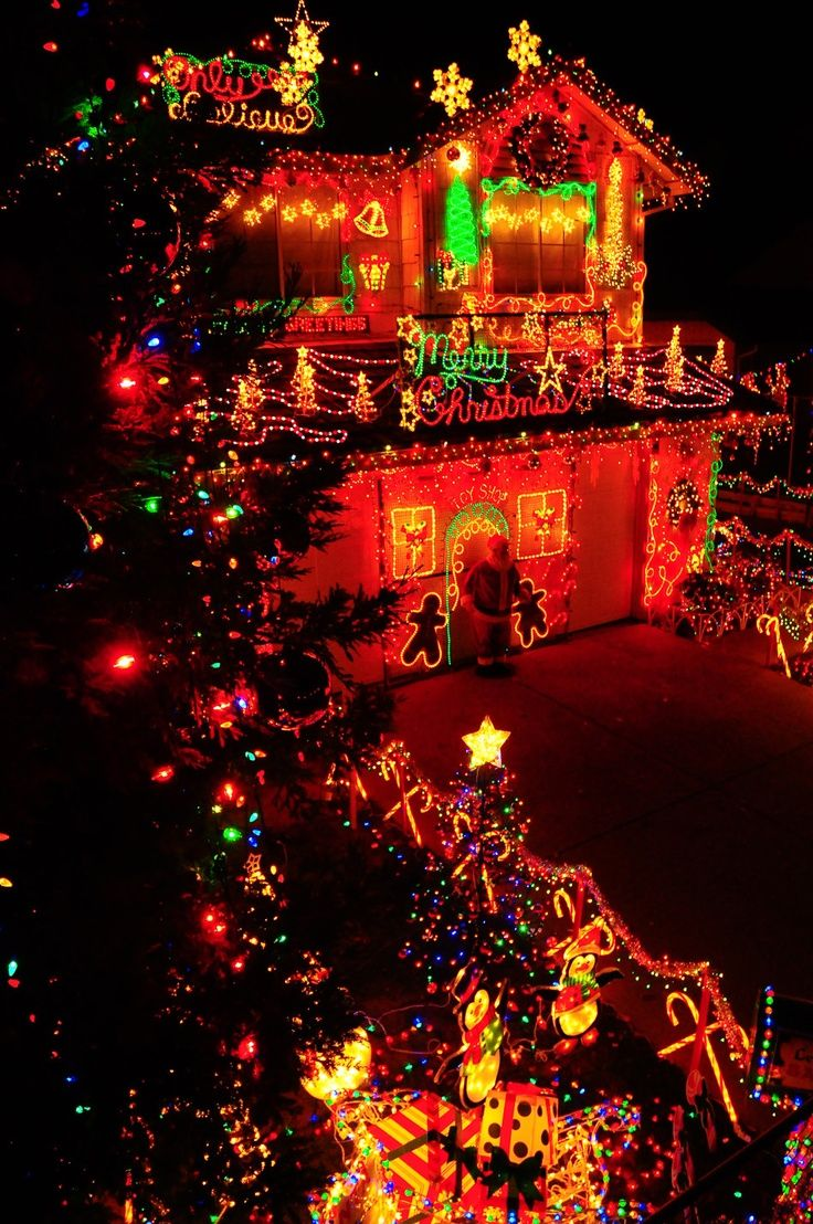 Christmas Decor Of The Twin Cities - Red glow christmas