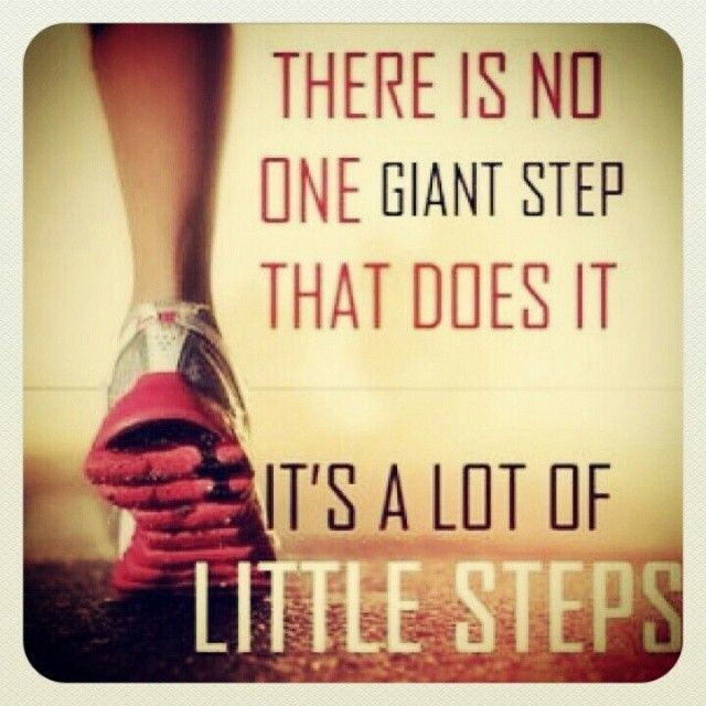 Small Steps Done Consistently Over Time Will Yield Big Results! Be Patient  With The Process!