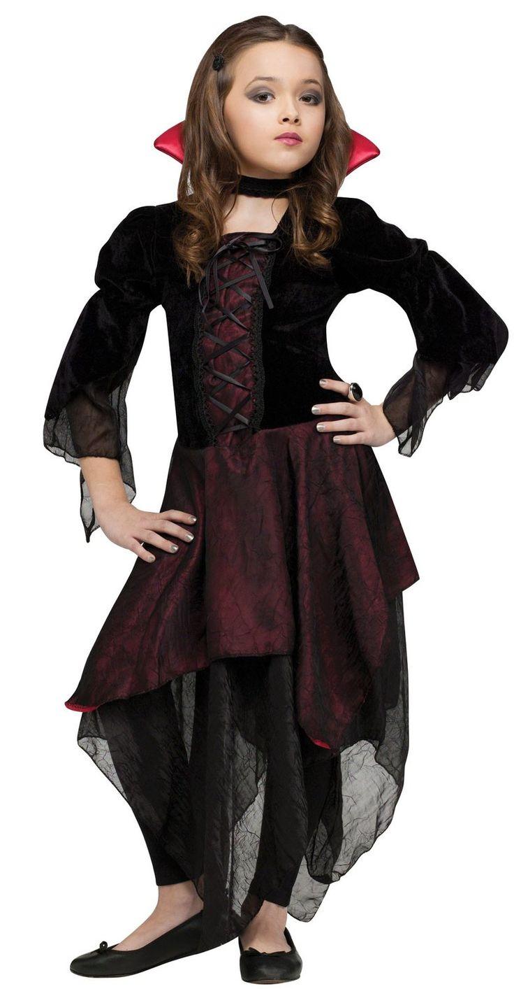 Kids Lady Dracula Girl Vampire Costume Dracula Costumes - Mr. Costumes