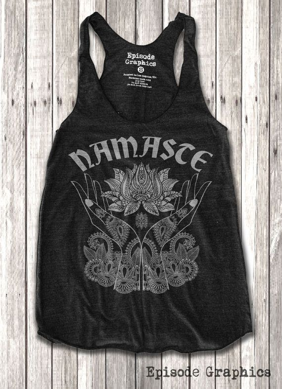 Namaste et Lotus impression Racerback Tank Top par EpisodeGraphics