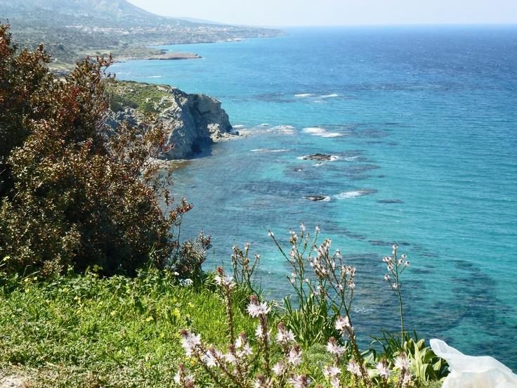 Coastline of North Cyprus, looking west.