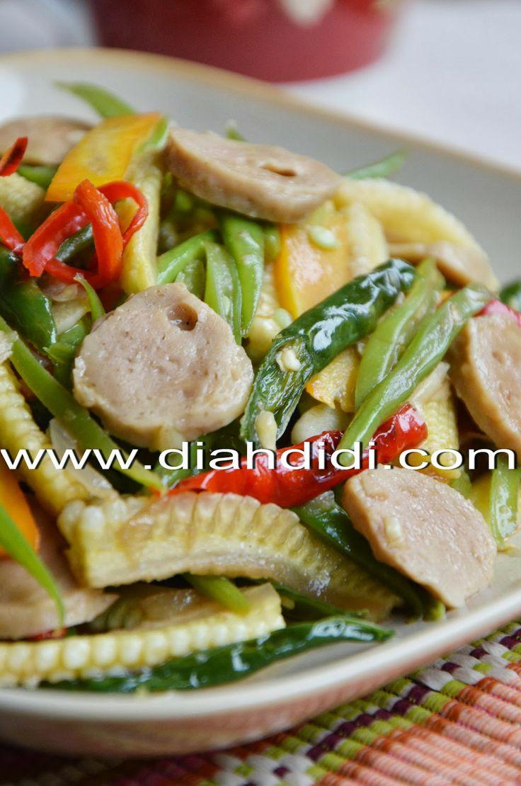 Diah Didi's Kitchen Tumis Sayur Campur Campur Saus Tiram
