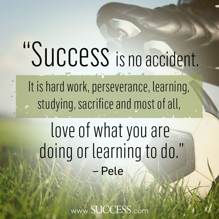 success is no accident it is hard work perseverance