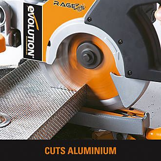 Evolution RAGE3-S 210mm Single-Bevel Sliding Compound Mitre Saw 240V | Mitre Saws | Screwfix.com