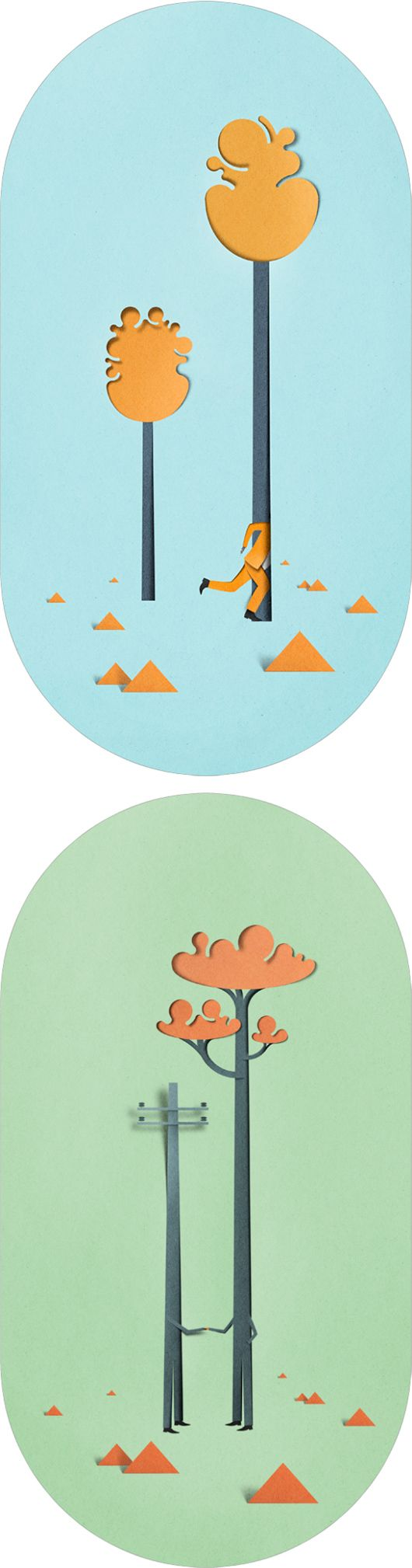 25 april - Sometimes you need a day off :p // Paper Cut Illustrations by Eiko Ojala // Each day one pin that reflects your day